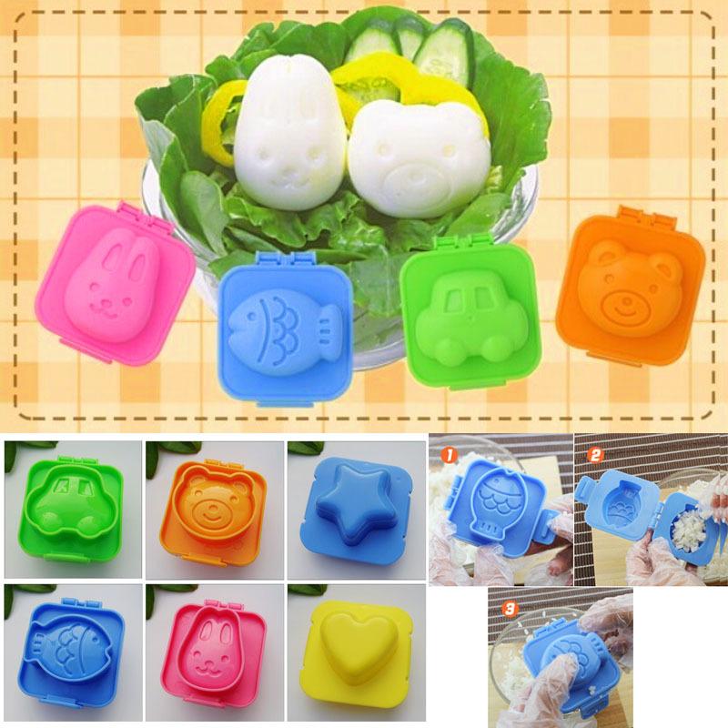 Set 8 khuôn dập nhựa lẻ (Thỏ, gấu, cá, ô tô, tim, Doraemon, Doraemi)